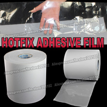 Hot fix paper tape 24 28 32CM wide iron on heat transfer film super adhesive quality for HotFix rhinestones crystals DIY tools