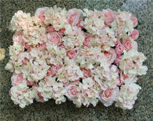 Light pink 10pcs/lot Artificial Hydrangea rose flower wall wedding party decorations backdrop road lead market flore(China)