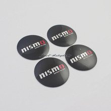 4Pcs 3D Aluminium NISMO Letter 57mm Wheel Center Hub Caps Emblem Sticker Case for Nissan(China)
