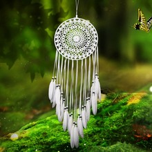 Door&Window Decoration Dream Catcher MS6133 Solid White&Lace Wind Chimes Wishes Mascot Symbolic With Good Polyester Thread(China)