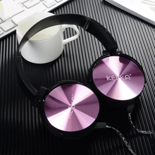 Luxury Headband Stereo Headphones with Microphone Portable Wired Rose Gold Girls Headset for Mobile Phone iPhone Samsung Gift