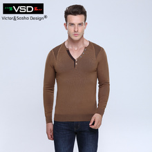 Men's sweaters 2016 winter new men Slim Solid Color mens sweaters and pullovers Men V Neck Casual Dress Brand maglione uomo VSD