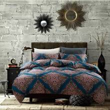 TUTUBIRD-100% Egyptian Cotton Bohemian Owl Bedding Set Mandala Duvet Cover Sheets Pillow Cases Queen King Size Bed linen(China)