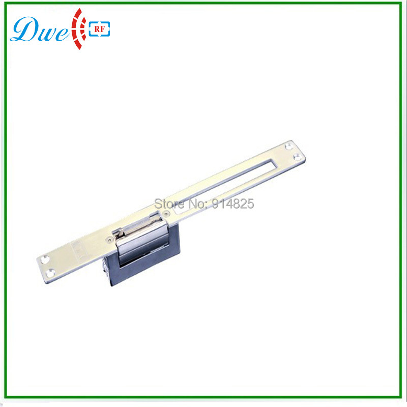 Free Shipping 600kg 12V 90Degree Swinging Door Long Plate European Narrow-type and Adjustable Door Lock Electric Strike NO style<br><br>Aliexpress