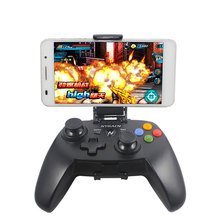 Vibration game controller Bluetooth wireless gamepad PC phone joystick with mobile holder internal battery for Windows Android(China)