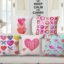 cushions decorative cushioncover 45x45cm European Flax Firebird Love Geometry cushion pillow almofadas para sofa