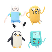 Movie Adventure Time Soft Animal Toys Plush Penguin Toys Finn And Jake Bmo Adventure Time Plush(China)