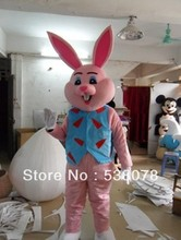 super cute Easter rabbit bunny mascot costume pink carrot bunny cartoon mascotte outfit suit EMS FREE SHIPPING  SW 28