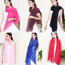 Bluelans Women's Fashion Long Cotton Linen  Scarf Shawl Solid Color Stole Pashmina