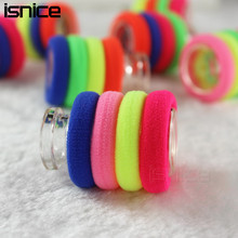 isnice 100pcs/lot Diameter 3cm 0-6 Years Old Rainbow Color Gum For Hair Rubber bands hair accessories gum hair girl