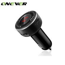 Onever HandsFree Wireless Bluetooth FM Transmitter Modulator Car MP3 Player TF/SD Memory Card USB LCD Car Accessories(China)