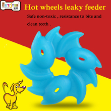 2018 new pet products clean teeth molar hot wheels leaky feeder resistance to bite chew toy funny dog toy for teddy and huskies(China)