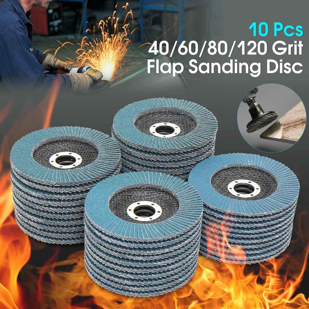 10 x Flap Disc 115mm Angle Grinder Sanding Disc 40 60 80 120 Grit Grinder Wheels