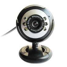 USB 30.0M 6 LED Webcam Camera Web Cam With Mic for Desktop PC Laptop(China)