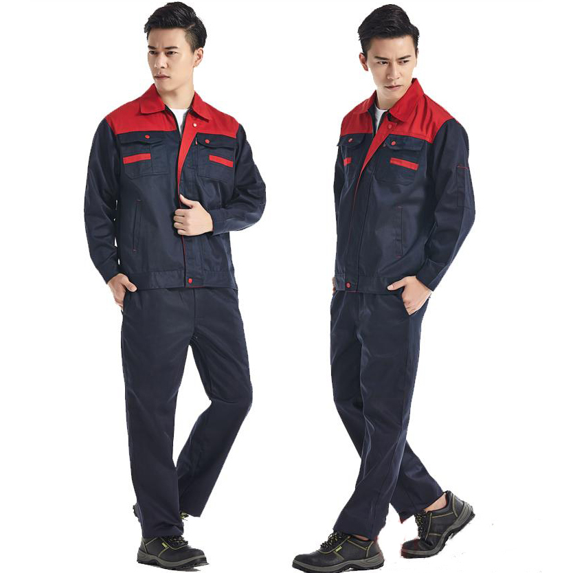 Men Work Clothing Sets Wear-resistant Working clothes Spring Autumn Long Sleeve Jacket &amp; Pants Set Factory Uniforms Auto Repair <br>