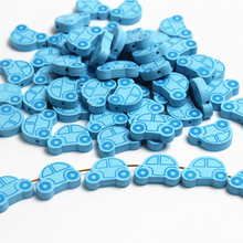 25pcs Wooden Beads Lovely Car Styles Spacer Beading Wood Beads 25x18mm Toys For Baby DIY Crafts Kids Toys & Pacifier Clip(China)