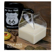 Half Pint Glass Milk Box Transparent Milk Box Glass Cup 11-100