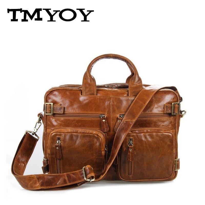 TMYOY Business style men quality genuine leather bag for men multi-function briefcase 3 colors mens bag men messenger bag AA756<br><br>Aliexpress