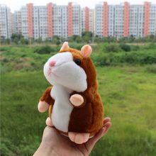 Cute Cartoon Talking Hamster Plush Toys Sound Record Plush Hamster Stuffed Toys for Children Kids Christmas Gift High Quality(China)