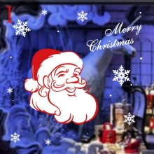 DHL Free Shipping Christmas window stickers Snowflake Santa window display Without glue electrostatic incognito Wall Sticker