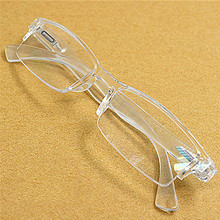 Men Women White rimless resin PC Presbyopia reader eyeglasses Plastic frame reading glasses Diopter 1.0 2.0 to 4.0 016(China)