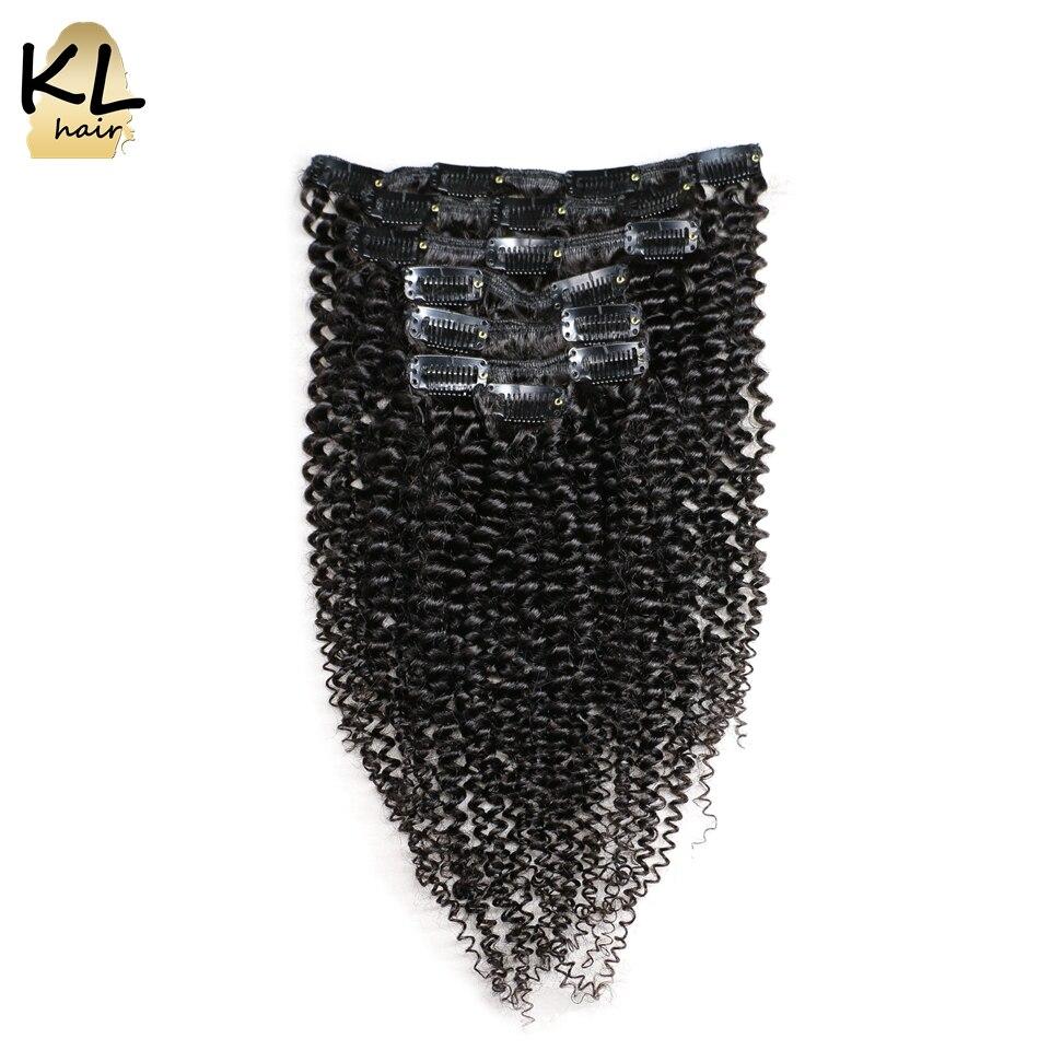 Kinky Curly Virgin Hair Clip in Human Hair Extension Brazilian Virgin Hair Clip in Extension Kinky Curly Clip in Hair 7Pcs/Set<br><br>Aliexpress