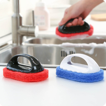 DUOLVQI Kitchen Bathroom window smoke lampblack machine cleaner cleaning tool handle cleaning brush magic melamine sponge brush