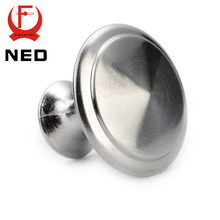 20PCS NED Zinc Alloy Handles Satin Nickel Cabinet Pull Cupboard Drawer Knobs Wardrobe Handle With Screw Furniture Hardware