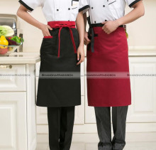 Adjustable Half-length Short Waist Apron With Pocket Chefs Waiters Bar Apron 40116804
