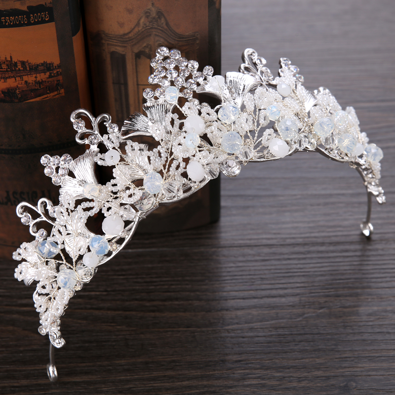 Diverse Silver Crystal Bride tiara Crown Fashion Pearl Queen Wedding Crown Headpiece Wedding Hair Jewelry Accessories Wholesale 13