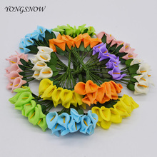12Pcs or 36pcs Scrapbooking Calla Lily Home Decoration Pe Foam Artificial Flower Bouquet Wedding Party Diy Handmade Craft 55Z