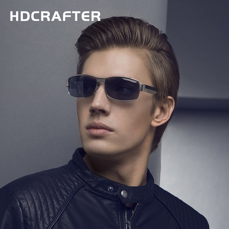 New 2017 HDCRAFTER Sunglasses Man Brand Designer Alloy UV400 Eyewear Vintage Polarized Male Google Pilot Driver Fishing E007<br><br>Aliexpress