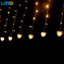 LMID 4M*0.6M 120leds Fairy String Icicle Led Curtain Light Outdoor Home Xmas Christmas Wedding Garden Party Decoration