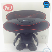 Wireless Bluetooth pill speaker with Cute doll support TF SD Handfree mic Aux for iphone android smartphone PC five color option