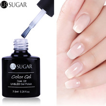 UR SUGAR 7.5ml Opal Jelly Gel Polish White Soak Off UV Gel Varnish Lacquer Long Lasting Nail Gel Manicure Nail Art UV Gel UV LED(China)