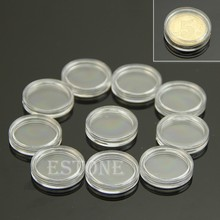 10 PCS Applied Clear Round Cases Coin Storage Capsules Holder Plastic 19mm Durable(China)
