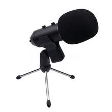 New USB Condenser Sound Recording Microphone Wired Radio Broadcasting Microphone with Stand for Chatting Singing Karaoke