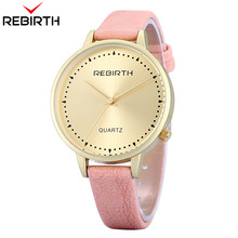 New Hot REBIRTH Women Watches Casual Ladies Watches Top Brand Luxury Gold Lovely Bracelet Quartz Clock Classic Female Clocks 010(China)