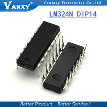 10PCS LM324N DIP14 LM324 DIP new and  original IC free shipping