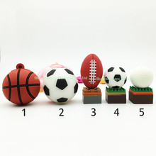 Full capacity usb flash drive Basketball cartoon football usb flash card golf 32GB 16GB pendrive gifts usb memory flash stick