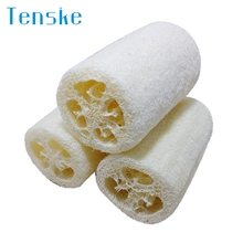 Tenske  Sponge Scrubber New&Hot  Natural Loofah Bath Flower cleaning tools*15 GIFT Drop 2017