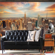 beibehang Beautiful scenery of the United States and New York City Scenery TV background wall mural