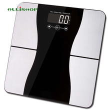 ALLiSHOP  bathroom scales smart 180KG/400lb with Weight Measuring, BMI, body fat, body water, and muscle and bone mass