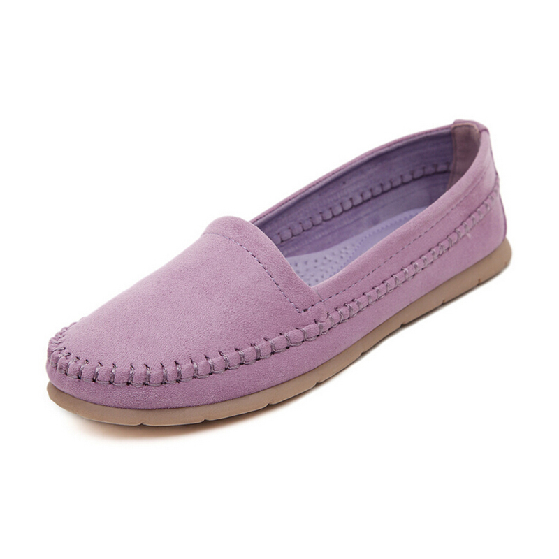 2017 New! women shoes Suede Leather Mother Shoes Moccasins Womens Soft Leisure Flats Female Driving Shoe Flat zapatos mujer 141<br><br>Aliexpress