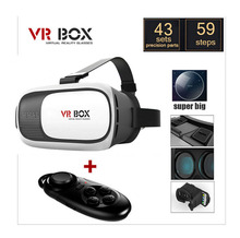 Google Cardboard VR BOX Pro Version VR Virtual Reality 3D Glasses +Smart Bluetooth Wireless Mouse/Remote Control Gamepad