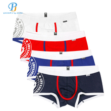 Buy Pink Heroes 4pcs/lot Men Boxers Underwear Navy Stripe Cotton Print Mens Boxer Underwear Fashion Brand Clothing Underwear Shorts for $12.59 in AliExpress store
