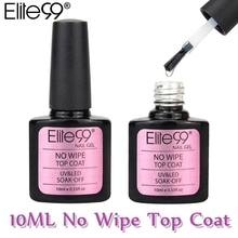 Elite99 Fashion No Wipe Top Coat Classic Nail Gel Polish All Match Soak Off UV LED Top Coats 10ml Gel For Nail Extensions(China)