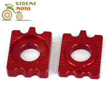 CNC Red Axle Block Chain Adjuster For Honda CRF250L CRF250M 2012 2013 2014 2015 Dirt Pit Bike Motorcycle(China)