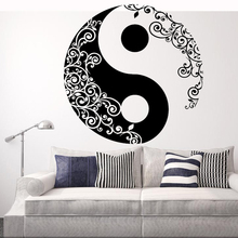 free shipping promotion home decal yoga mural art wall stickers mandala indian round parttern symbol room decoration decal