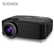Clearance RUISHIDA M3 LCD Projector Home Theater Android 4.4 Wireless Bluetooth4.0 WiFi 3000 LM 1280x720 HD 1080P Media Player